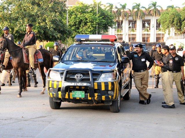 Punjab Police.  PHOTO: EXPRESS