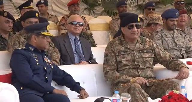 gen qamar witnesses multinational air exercise in sargodha