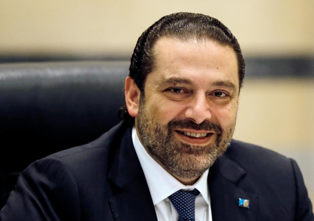 Lebanon's Prime Minister Saad al-Hariri presides a cabinet meeting at the governmental palace in Beirut. PHOTO: REUTERS