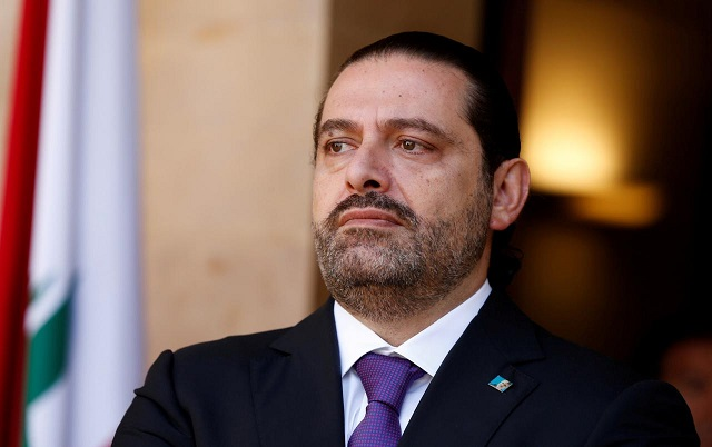 Lebanon's Prime Minister Saad al-Hariri is seen at the governmental palace in Beirut, Lebanon October 24, 2017.  PHOTO: REUTERS