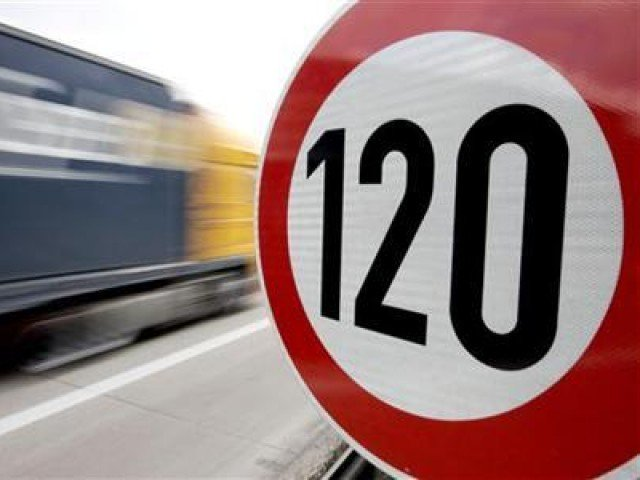 a truck passes a 120 km h 75 mph speed limit sign on the a27 autobahn near the northern german city of bremen april 10 2008 photo reuters