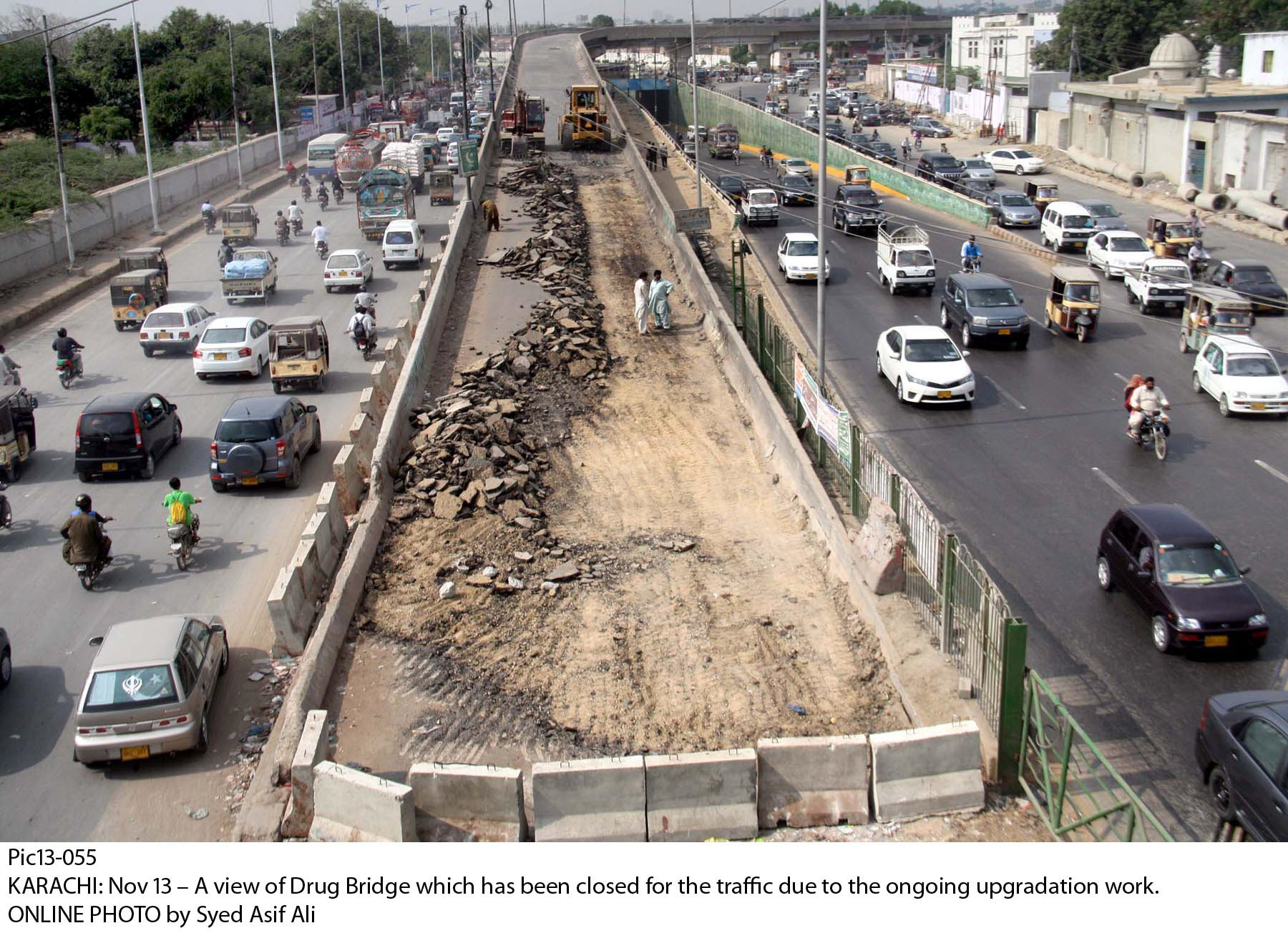drigh road flyover closed for the umpteenth time