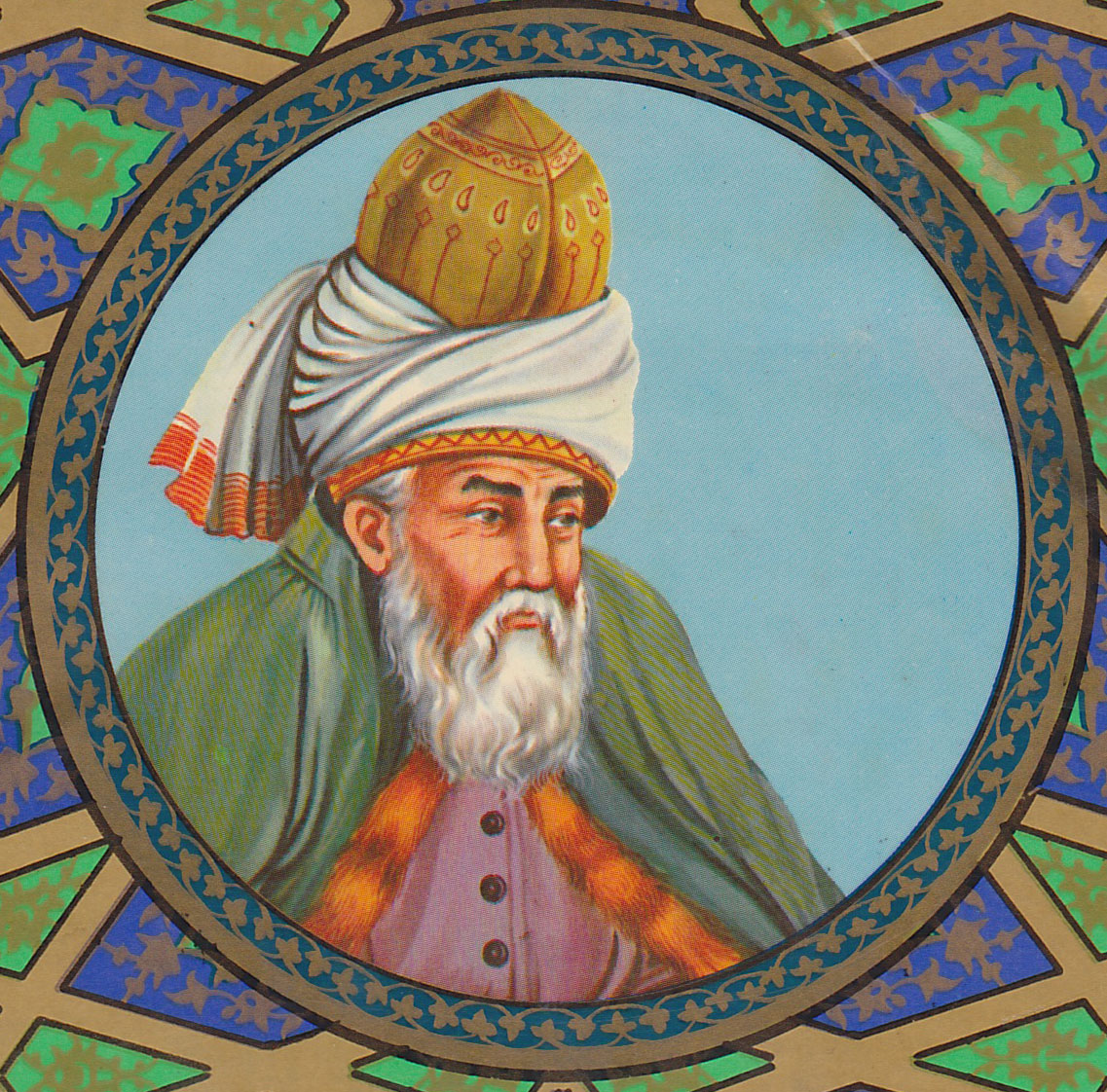 artistic depiction of rumi 1980 photo wikipedia