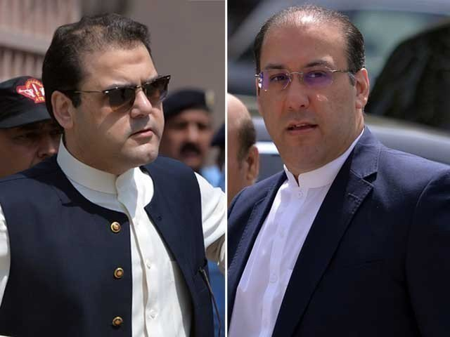 Former prime minister Nawaz Sharif's sons Hussain Nawaz [left] and Hassan Nawaz [right]. PHOTO: FILE
