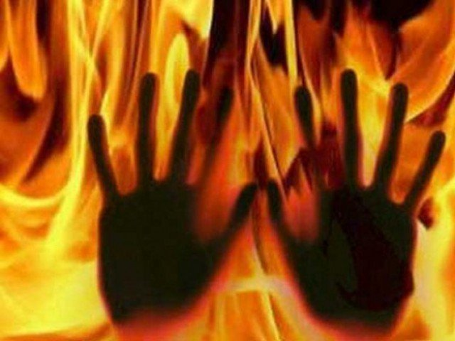 man sets wife ablaze for not allowing him to marry again in k p