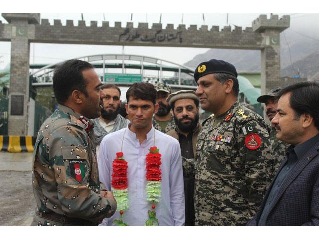 afghan soldier who entered kurram agency handed back