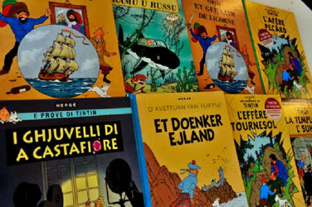 tintin and snowy drawing sells for 500 000 euros