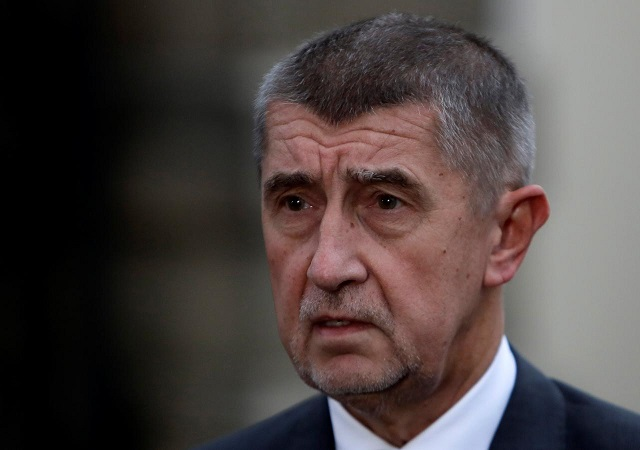 The leader of ANO party Andrej Babis speaks to the media in front of the Lany chateau after meeting with President Milos Zeman following the country's parliamentary elections in the village of Lany near Prague, Czech Republic October 23, 2017. PHOTO: REUTERS