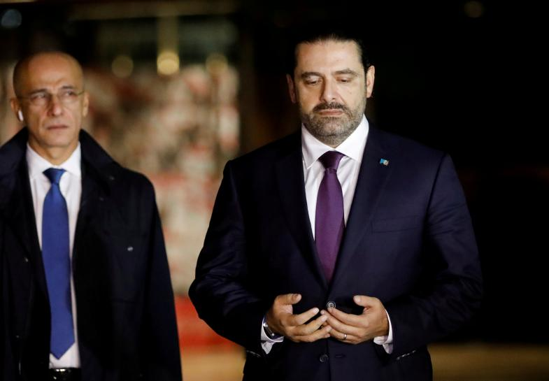 hariri back in beirut attends national day parade