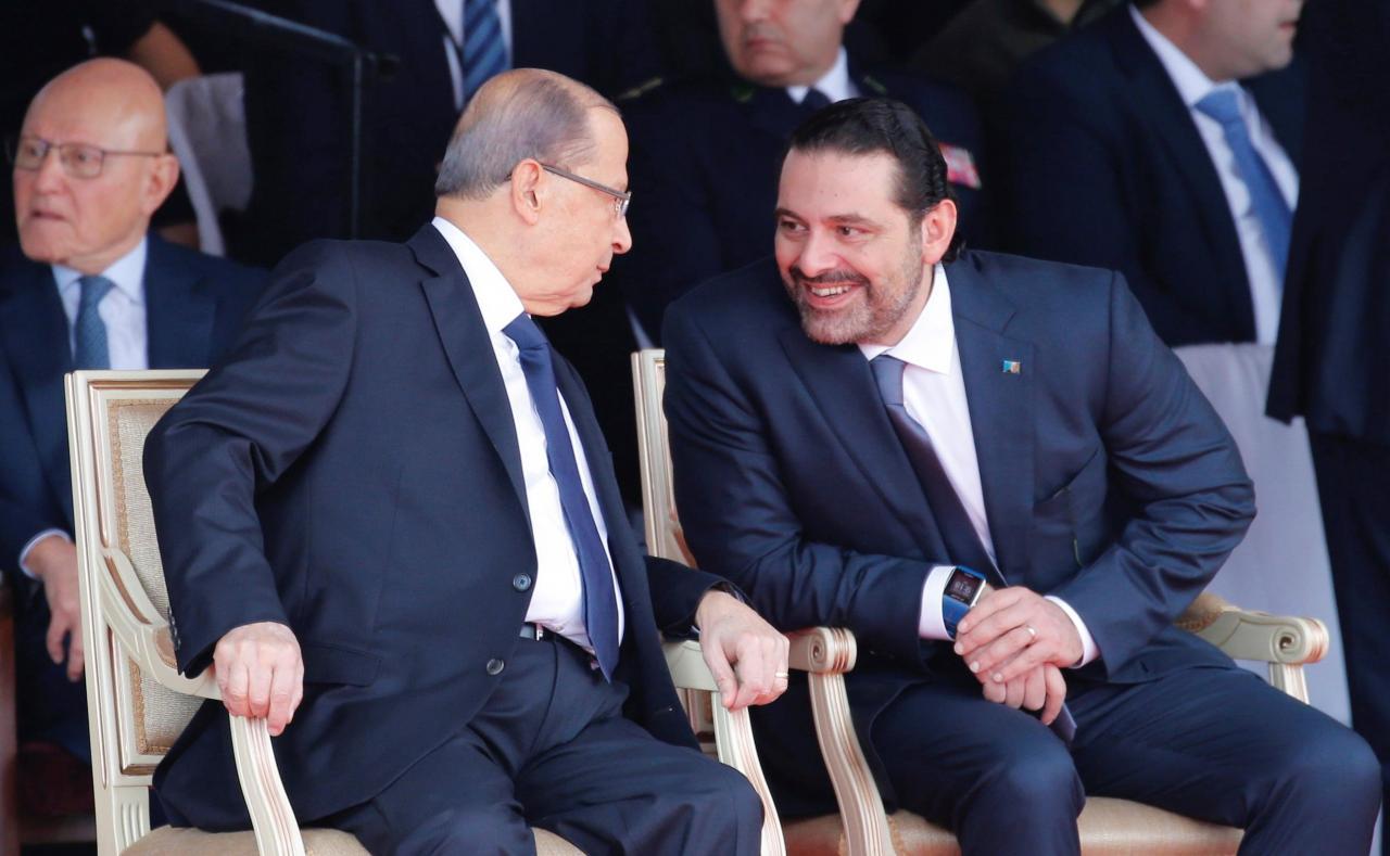 lebanon s hariri suspends resignation as pm easing crisis