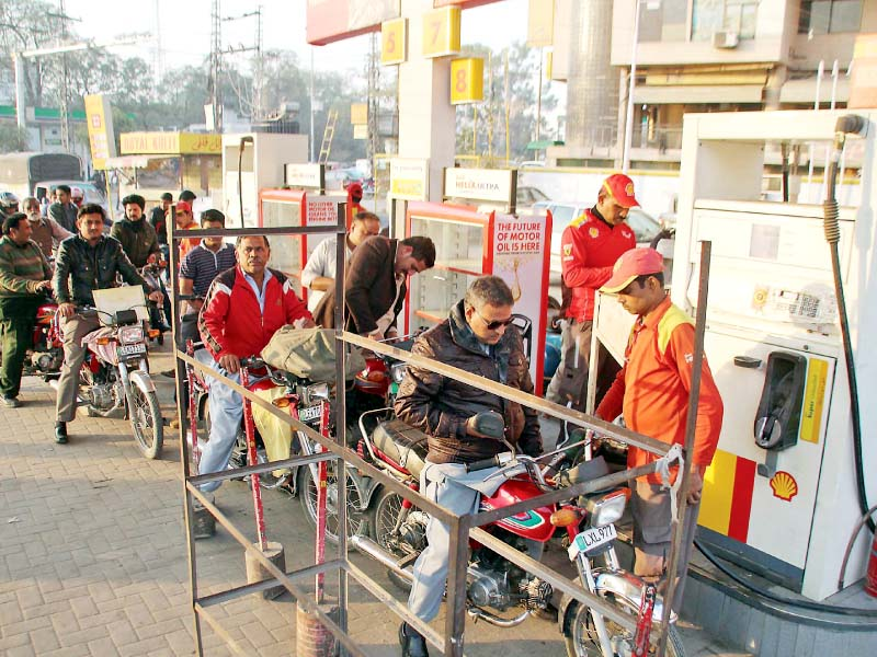 empty pockets on fuel food in lahore