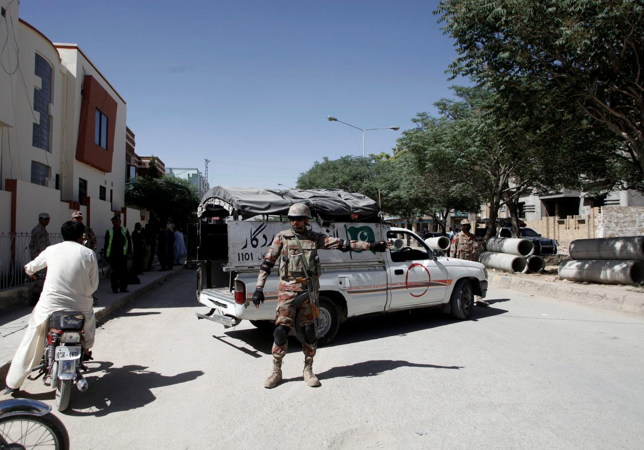 Security forces in Balochistan. PHOTO: REUTERS