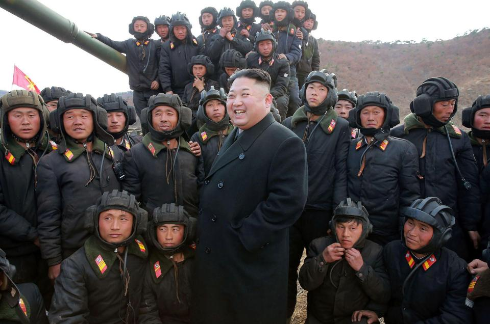 North Korean leader Kim Jong-Un said he's ready for war after Trump sent warships to the Korean Peninsula. PHOTO: ONLINE