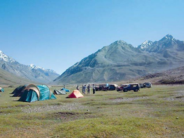 K-P tourism department has installed the camping pods. PHOTO: EXPRESS/FILE