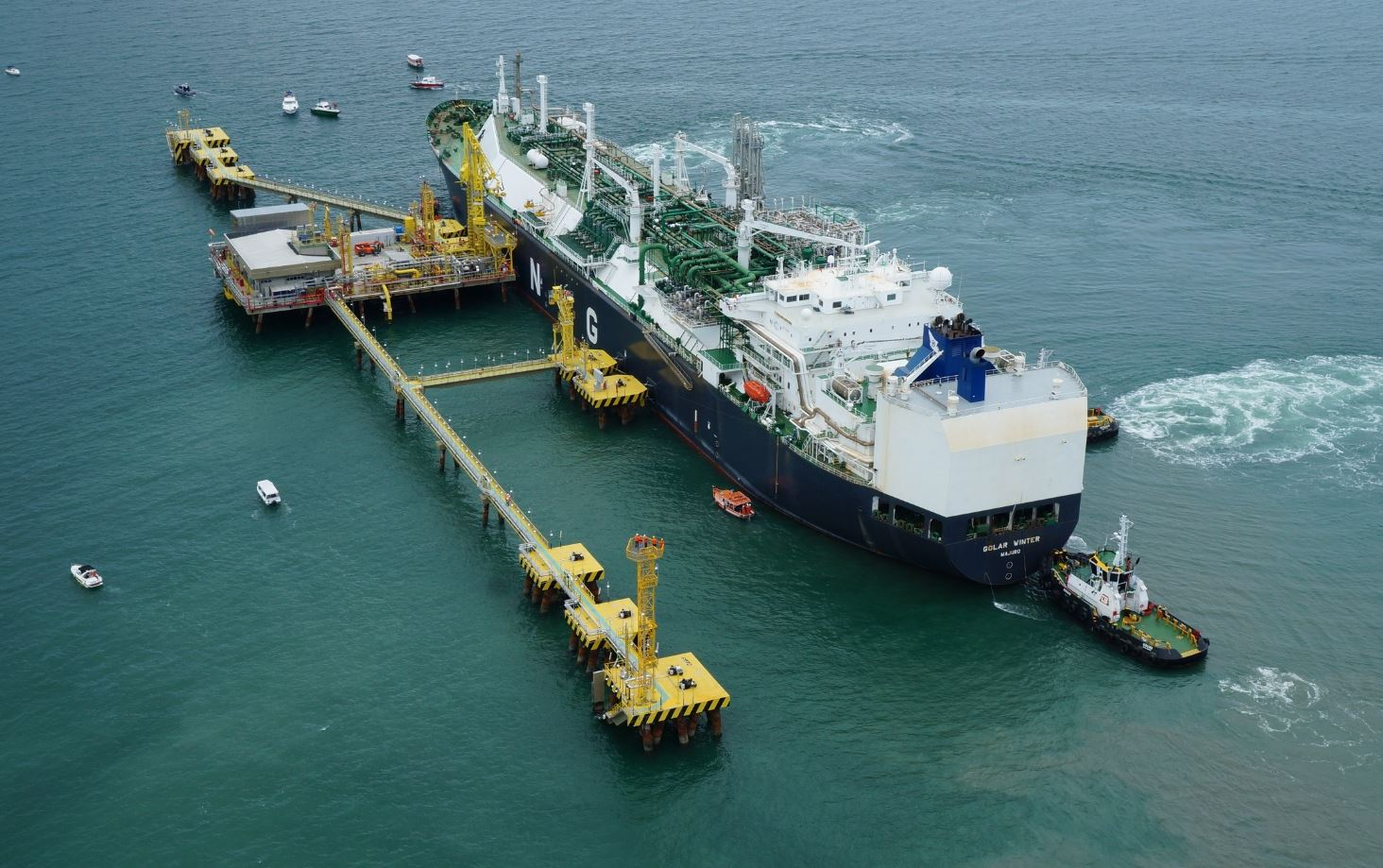 first lng terminal receives 120 shipments