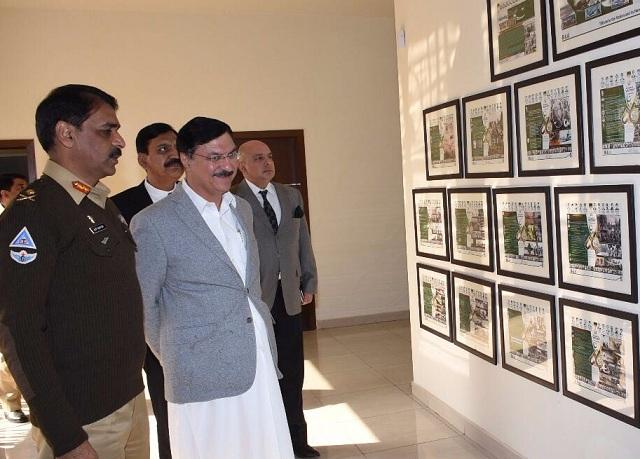 nacta national coordinator ihsan ghani visiting ispr head office in rawalpindi on friday photo ispr