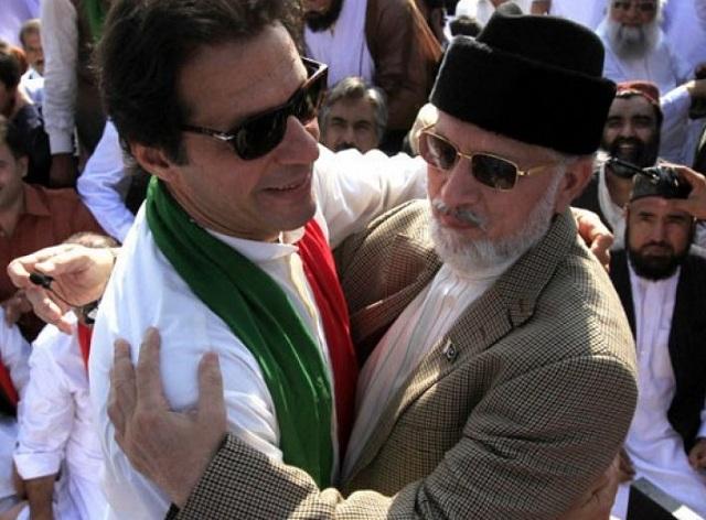 Imran Khan and Tahirul Qadri. PHOTO: FILE