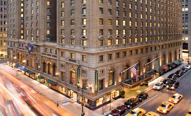 A view of the Roosevelt Hotel in New York. PHOTO COURTESY: ROOSEVELTHOTEL.COM
