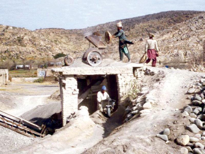 crackdown begins on stone crushing plants in jamshoro