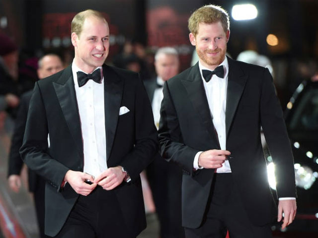 princes william and harry attend star wars london premiere