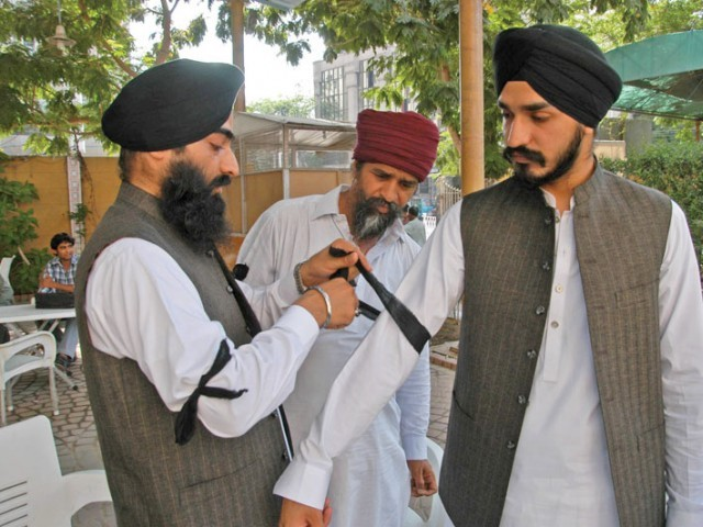 sikhs in hangu say the have friendly relations with muslims who have always stood up for the community when in need photo express file