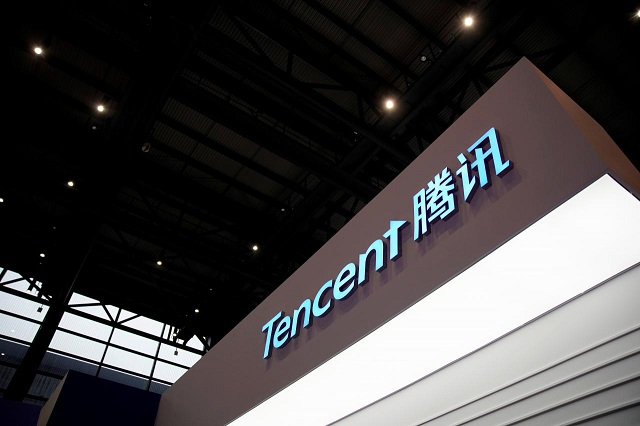 a sign of tencent is seen during the fourth world internet conference in wuzhen zhejiang province china december 3 2017 photo reuters