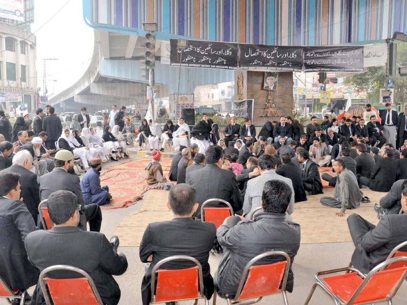 litigants suffer as lawyers protest enters sixth day