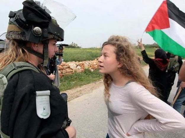 palestinian girl ahed tamimi known for confronting israeli soldiers arrested