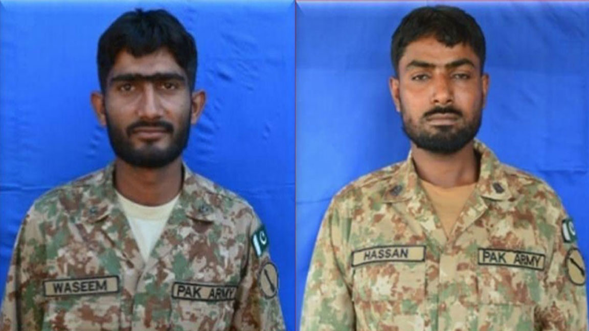 sepoy waseem ali left and sepoy noor ul hassan right photo rp