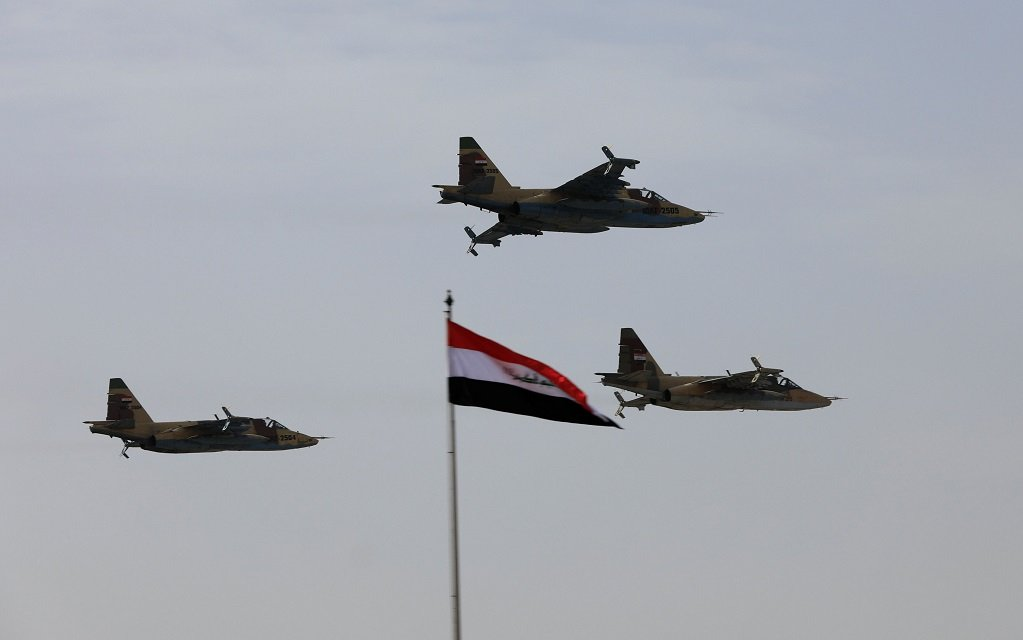 iraqi air force planes fly past during iraqi army day anniversary celebrations in baghdad iraq january 6 2018 photo reuters