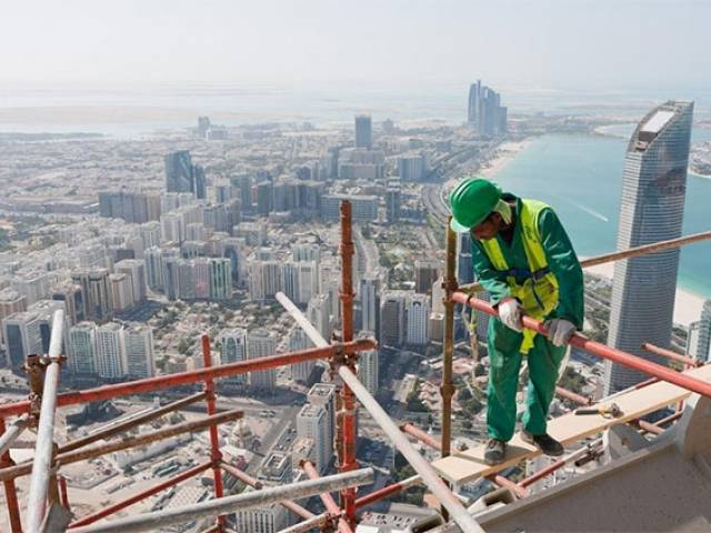 A file photo of an expat working. PHOTO: AFP