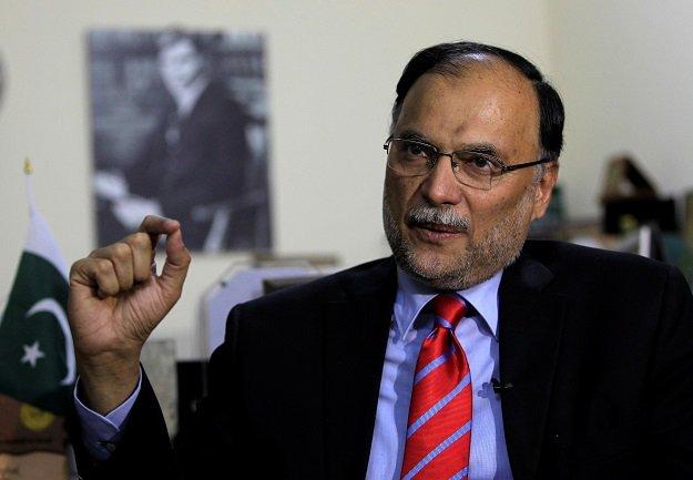 INTERIOR MINISTER AHSAN IQBAL. PHOTO: REUTERS