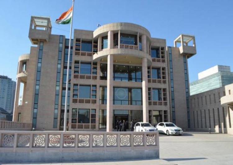 rocket lands inside premises of indian embassy in kabul