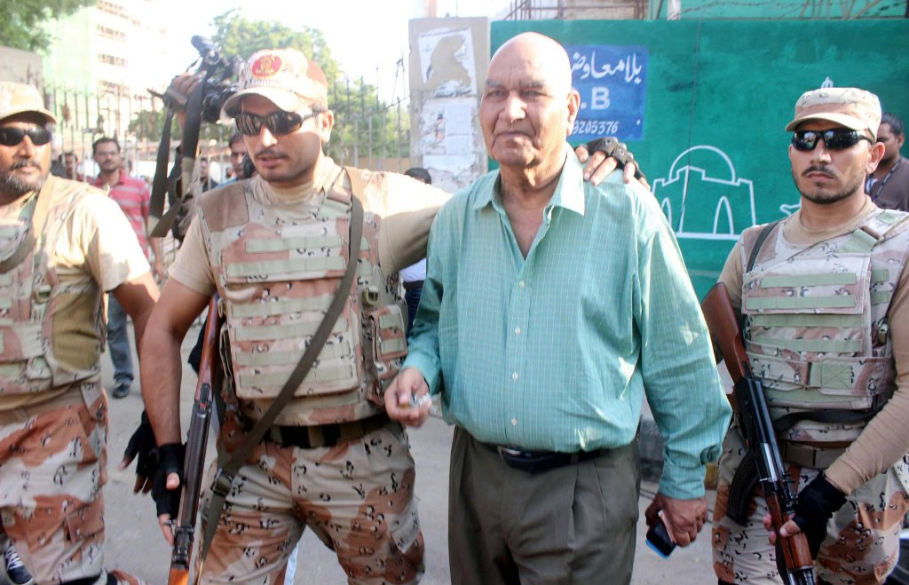 file photo of dr hasan zafar arif being arrested by rangers from outside the karachi press club on october 22 2016 photo ppi