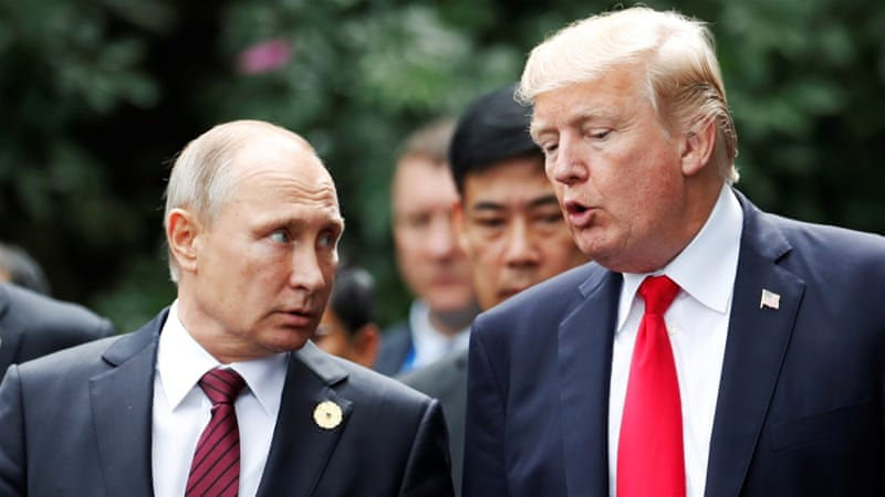Russian president Vladimir Putin and US president Donald Trump,PHOTO:REUTERS