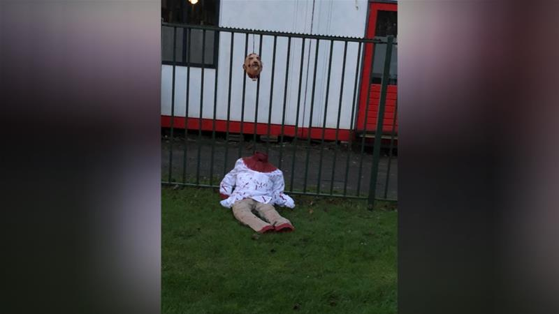 the neck and the head of the doll were smeared with a red substance photo courtesy at5