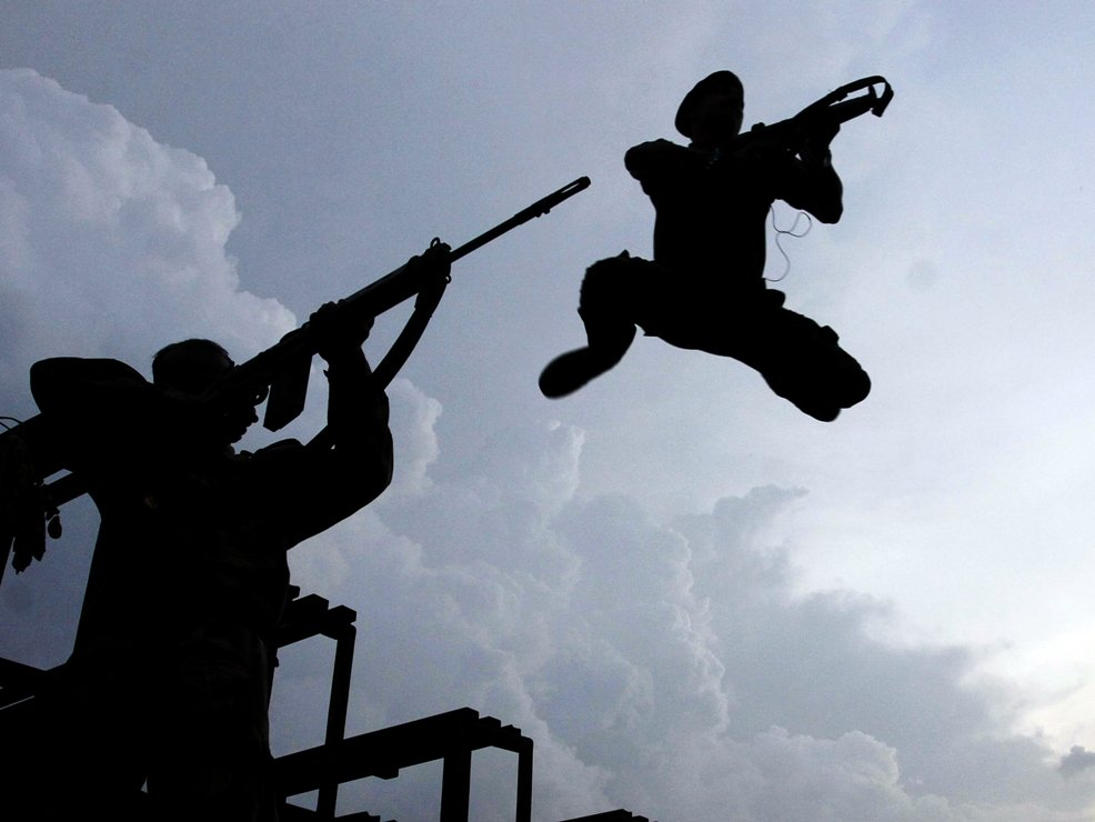 first line of defence capital s new anti terrorism force puts on fierce show
