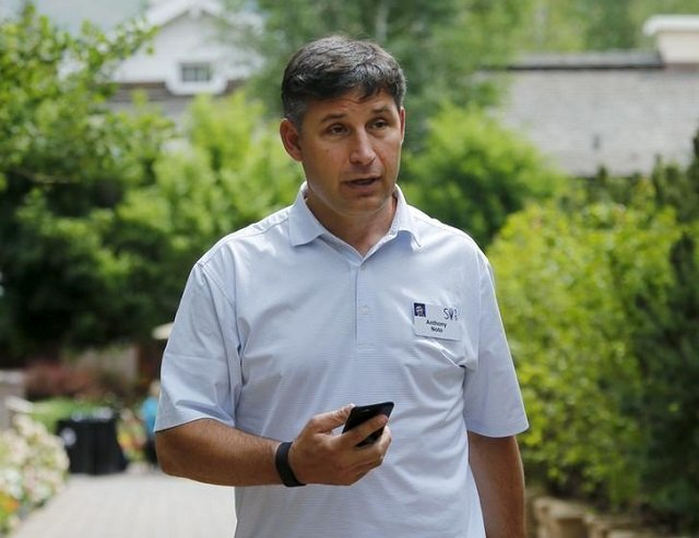 anthony noto chief financial officer of twitter holds his phone during the first day of the annual allen and co media conference in sun valley idaho july 8 2015 photo reuters