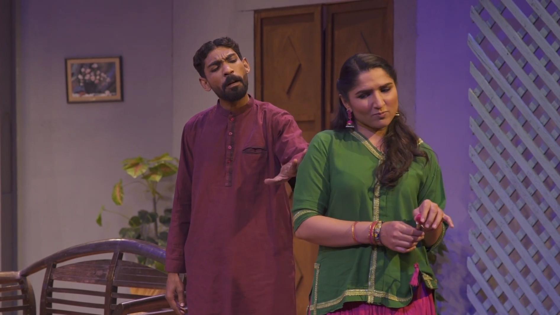 A still from 'Turram ka Makaan' released digitally, starring Shabana Hassan and Faizan Chawla