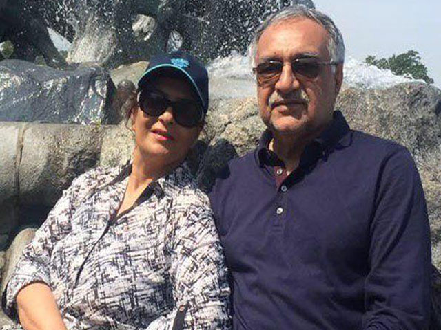 mir hazar khan bijarani and his wife fariha razaque