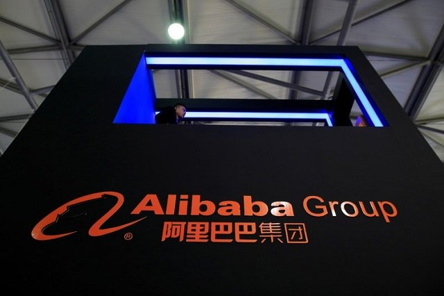 a sign of alibaba group is seen at ces consumer electronics show asia 2016 in shanghai china may 12 2016 photo reuters