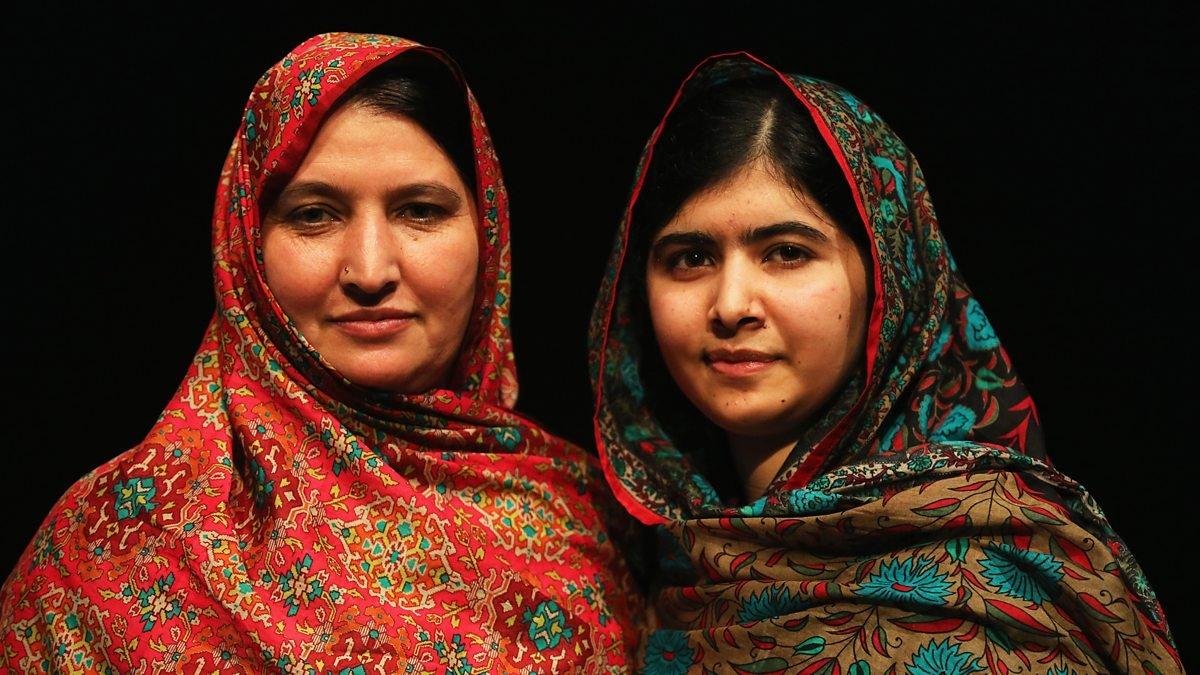 malala yousafzai with her mother pekai yousafzai photo courtesy bbc