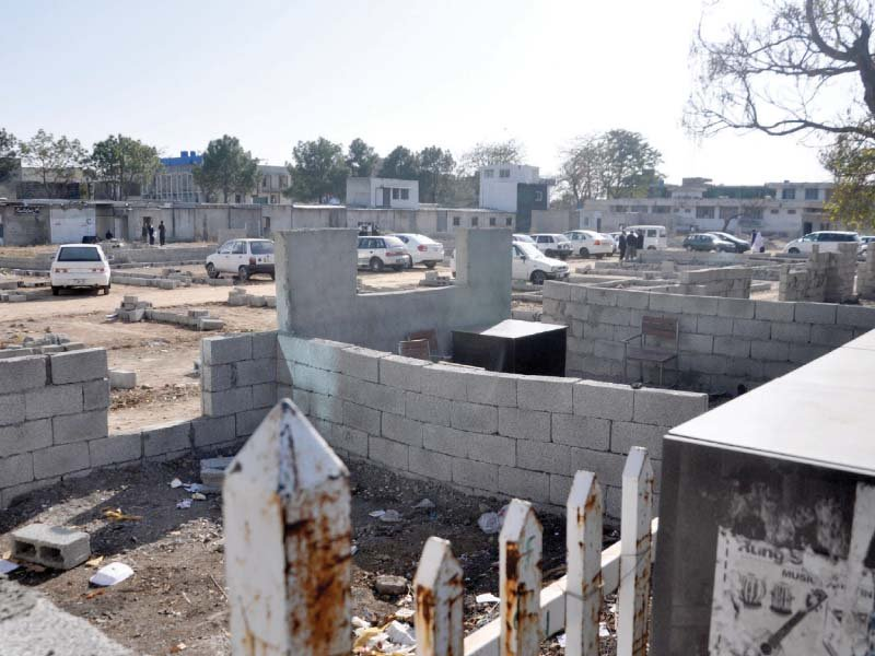 view of encroachment by lawyers on f 8 ground photo zafar aslam