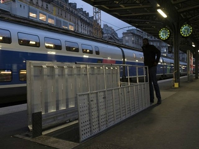 a trap door on the train platform at gare de l 039 est station in central paris leads down into a bunker from world war ii photo afp