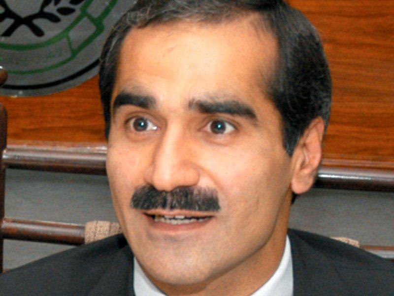 federal minister khawaja saad rafique photo file