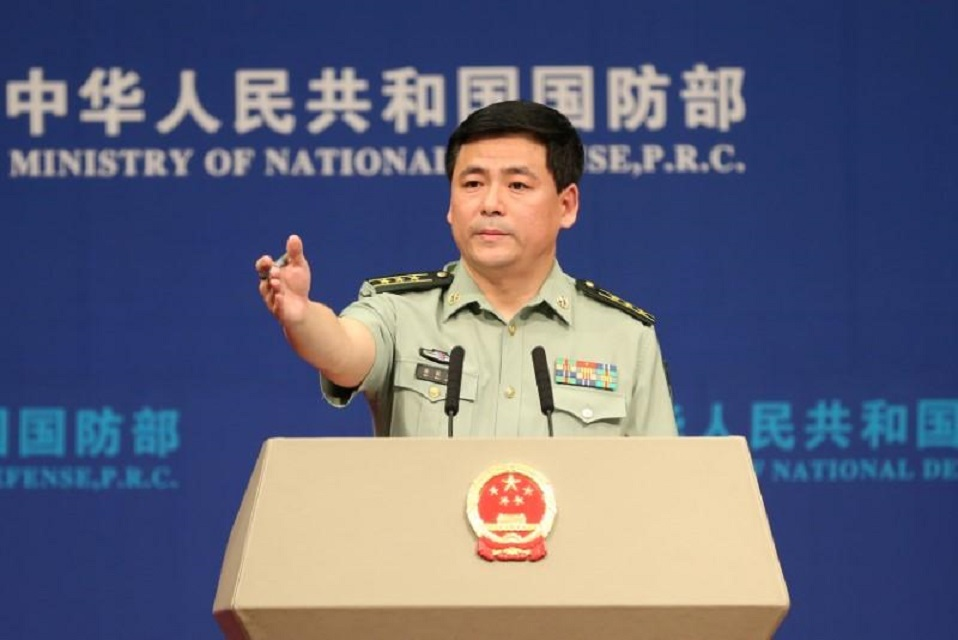 chinese defence ministry spokesperson ren guoqiang photo reuters file