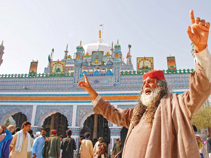 shrine of hazrat shah abdul latif bhittai photos express