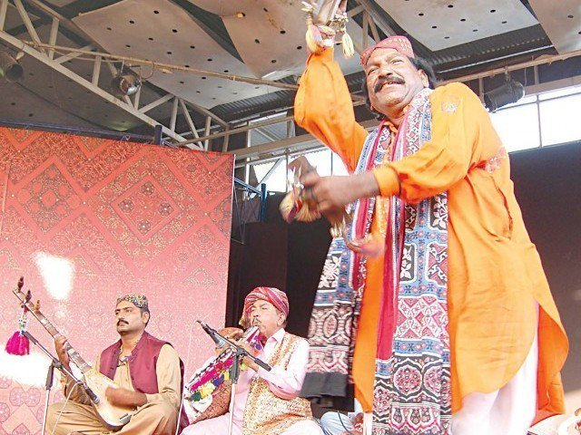 an artist at the festival presents sindhi folk dance at the lok virsa photo muhammad javaid file