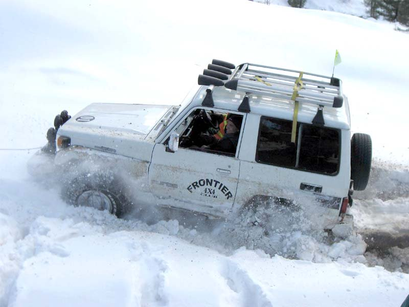 for the first time a jeep race was organised in the snow clad mountains of swat photo express fazal khaliq