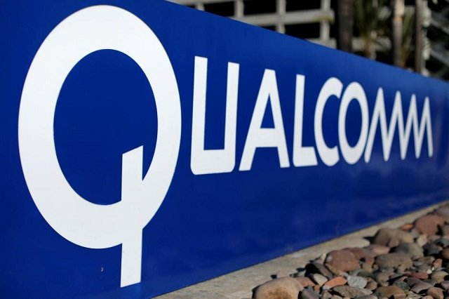 a sign on the qualcomm campus is seen as chip maker broadcom announced an unsolicited bid to buy peer qualcomm inc for 103 billion in san diego california us november 6 2017 photo reuters